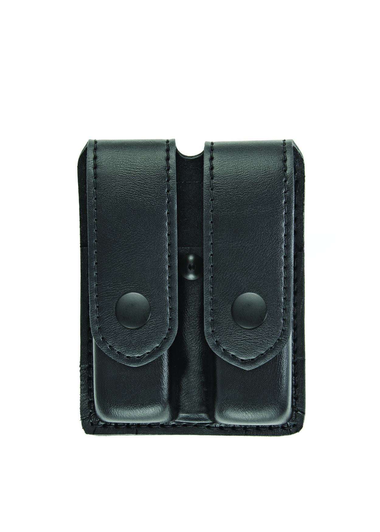 Double Magazine Case, Medium, AirTek, Smooth, Black Snaps-