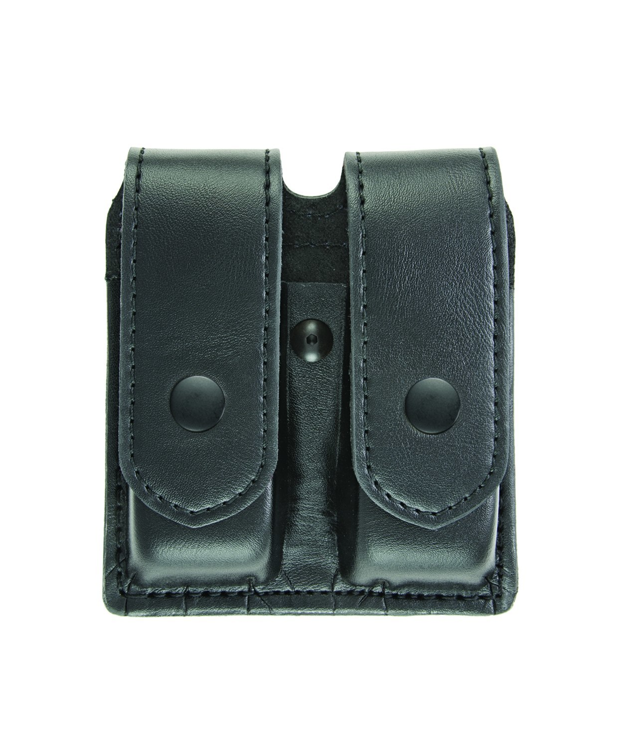 Double Magazine Case, Large, AirTek, Smooth, Black Snaps-