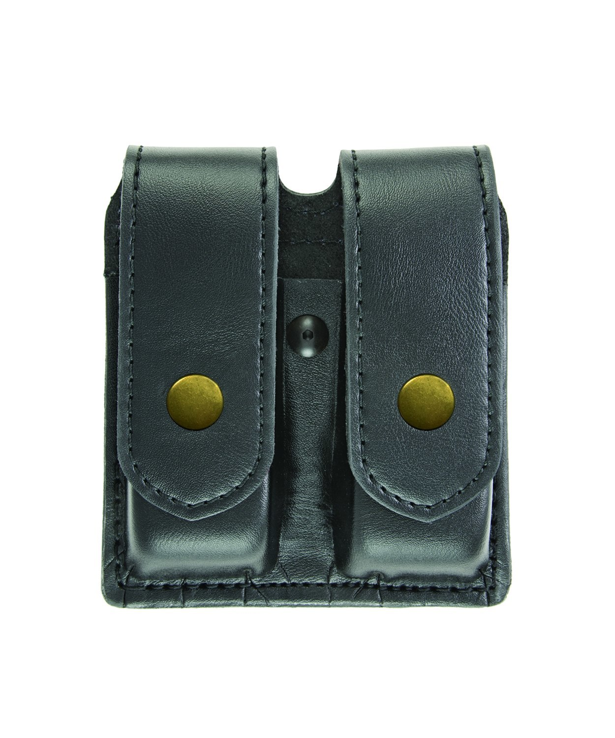Double Magazine Case, Large, AirTek, Smooth, Brass Snaps-