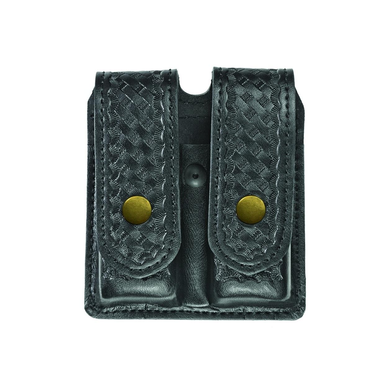Double Magazine Case, Large, AirTek, BW, Brass Snaps-
