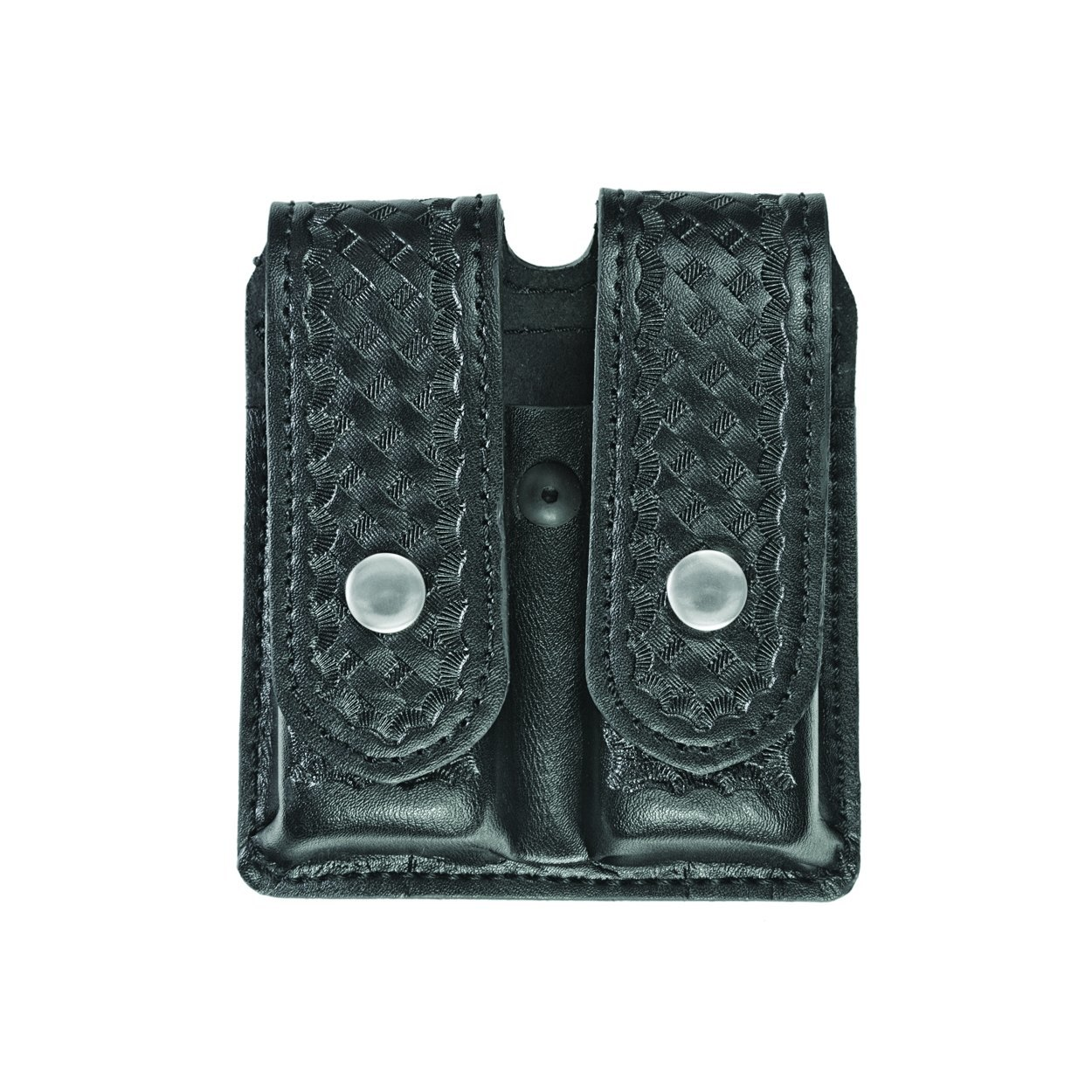 Double Magazine Case, Large, AirTek, BW, Nickel Snaps-