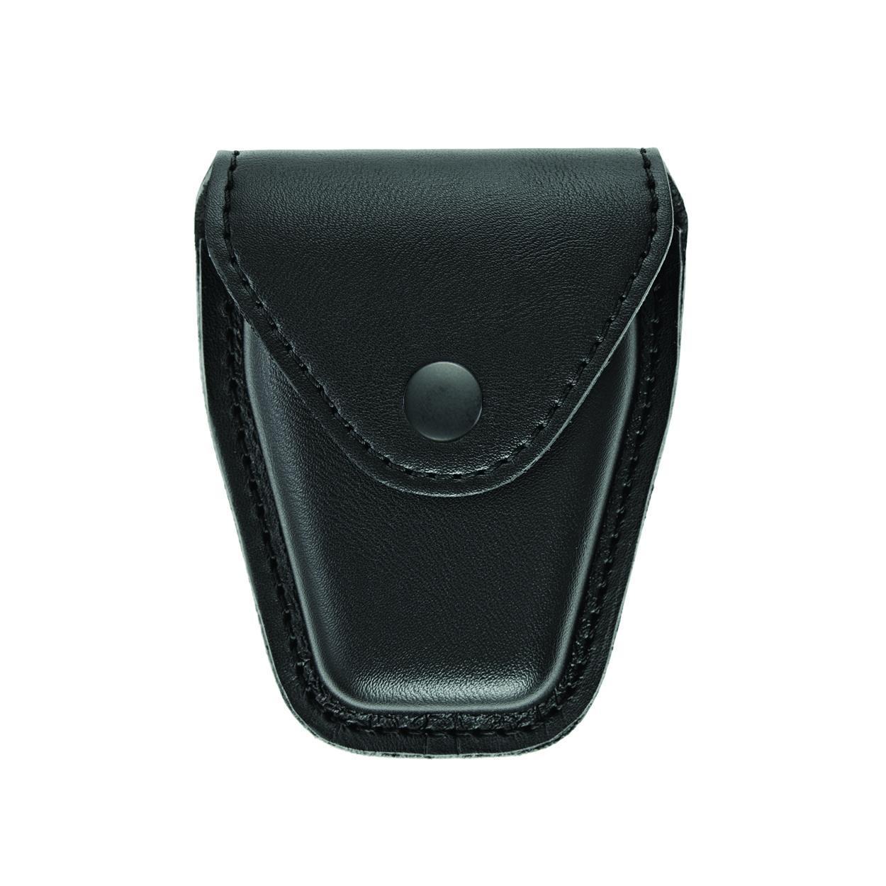 Handcuff Case, Single, Small/Chain, AirTek, Smooth, Black Snap-