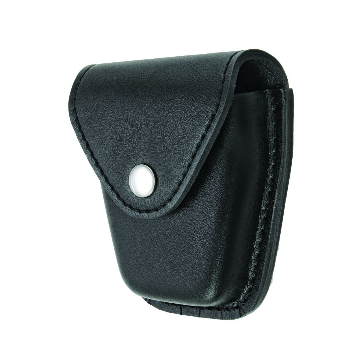 Handcuff Case, Single, Med/Hinged, AirTek, Smooth, Nickel Snap-
