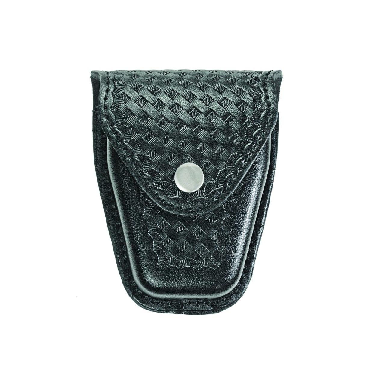 Handcuff Case, Double, Reg & ASP™ Chain, AirTek, BW, Nickel Snap-