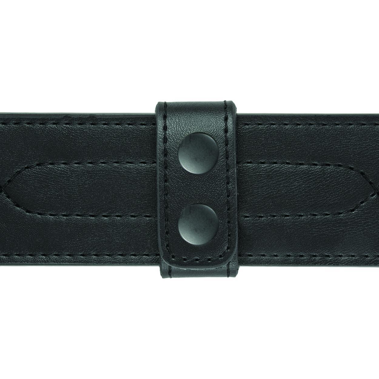 """Belt Keepers, 2 1/4"""" Belt, 2 Pack, Deluxe, AirTek, Smooth, Black Snaps"""