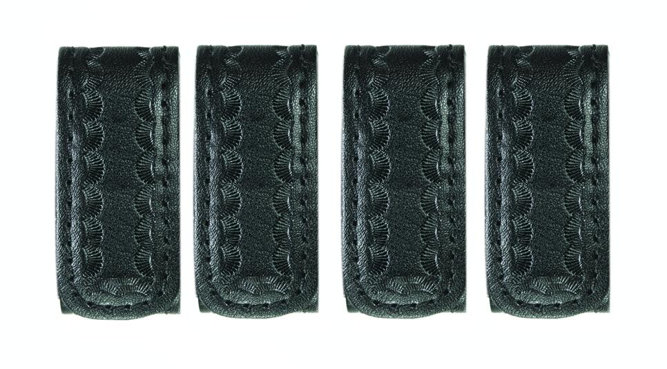 """Belt Keepers, 2 1/4"""" Belt, 2 Pack, Deluxe, AirTek, BW, Hidden Snaps-"""