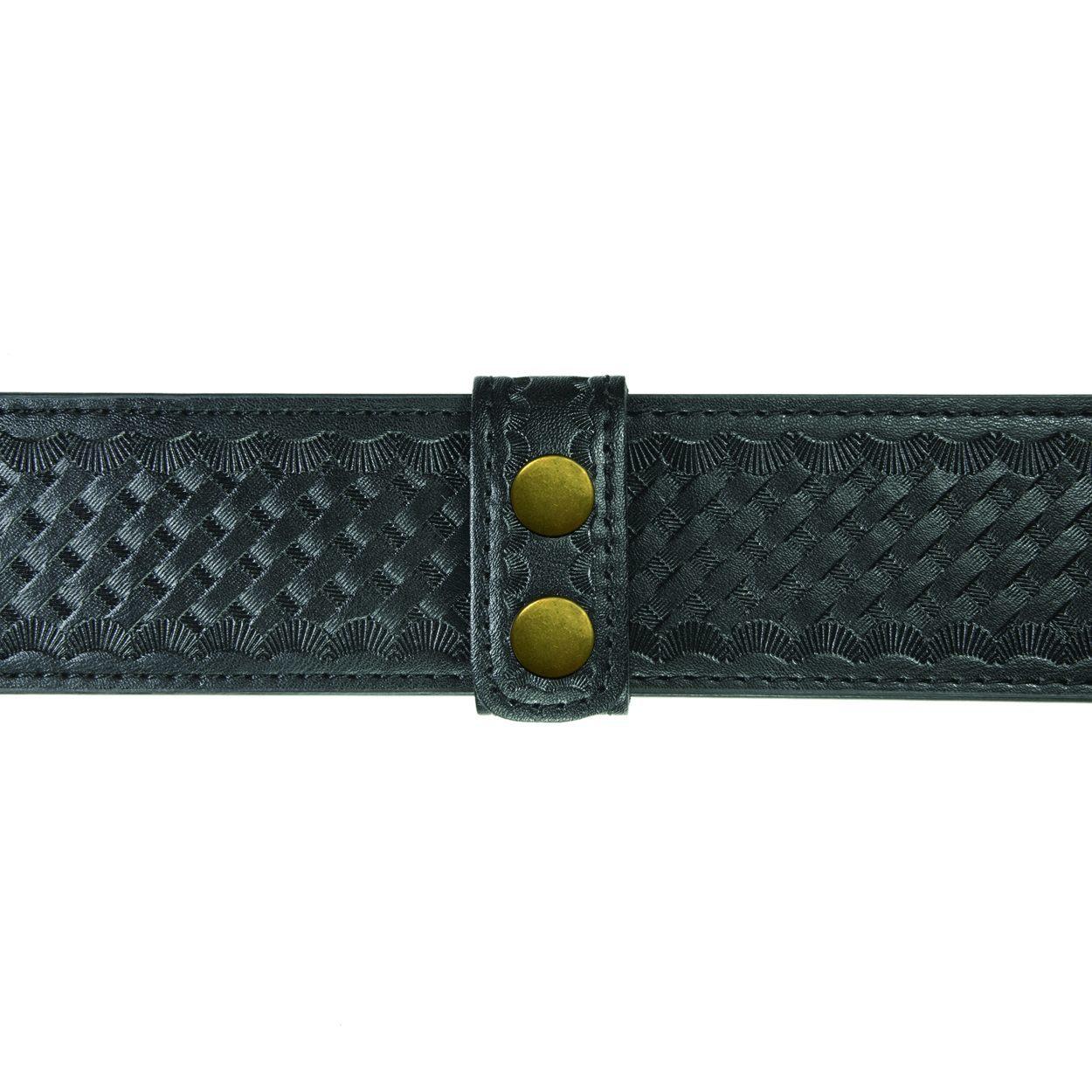 """Belt Keepers, 2 1/4"""" Belt, 2 Pack, Deluxe, AirTek, BW, Gold Snaps-Hero's Pride"""