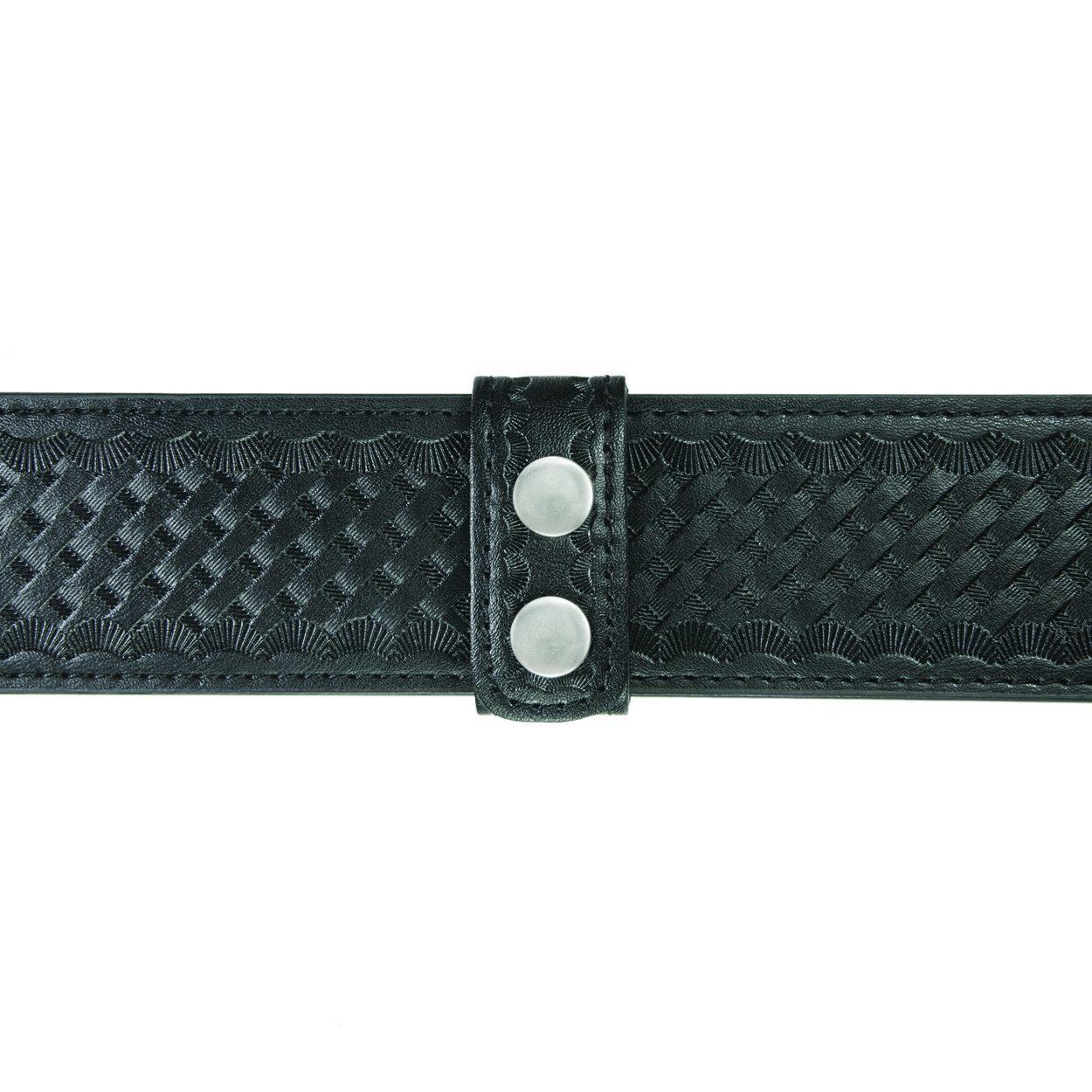 """Belt Keepers, 2 1/4"""" Belt, 2 Pack, Deluxe, AirTek, BW, Nickel Snaps"""