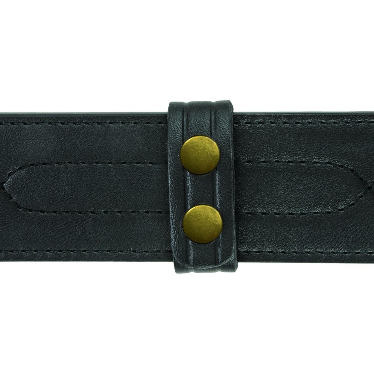 """Belt Keepers, 2 1/4"""" Belt, 4 Pack, Standard, AirTek, Smooth, Gold Snaps-"""