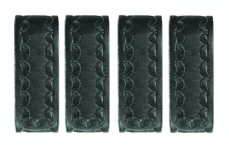 """Belt Keepers, 2 1/4"""" Belt, 4 Pack, Standard, AirTek, BW, Hidden Snaps"""