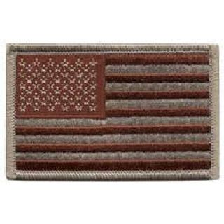 U.S. Flag - Desert - w/Hook - 3-3/8 X 2""