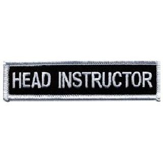 "Head Instructor - 4 X 1""-Hero's Pride"