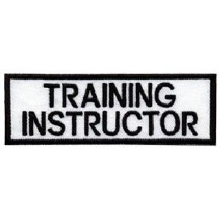 "Training Instructor - White On Black - 1-1/4"""" X 4""-"