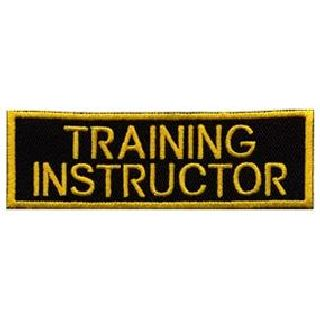 "Training Instructor - Gold On Black - 1-1/4 X 4""-Hero's Pride"