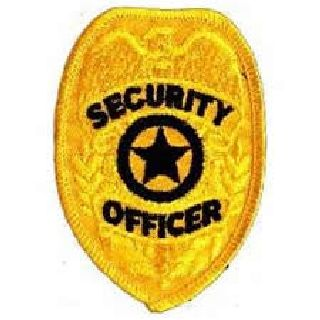 Gold Security Officer Badge-