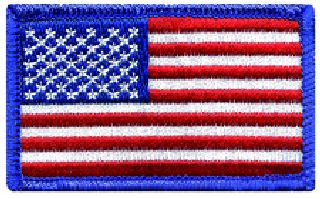 U.S. Flag - Royal Border - 2-1/2 X 1-1/2""
