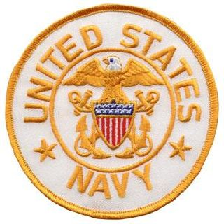 "United States Navy (White Twill) - 4"" Circle-Hero's Pride"