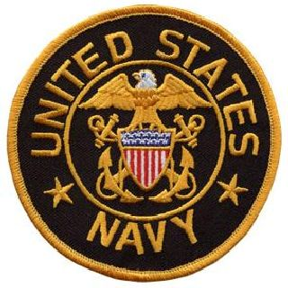 "United States Navy (Black Twill) - 4"" Circle-"