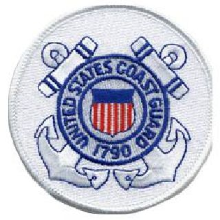 "Coast Guard - 3"" Circle-Hero's Pride"
