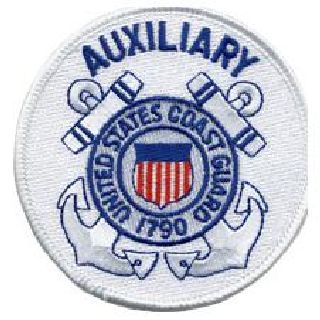 "Coast Guard (Auxiliary) - 3"" Circle-Hero's Pride"