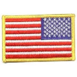 """U.S. Flag - 3-1/2 X 2-1/4"""" - Med Gold - Reverse-"""