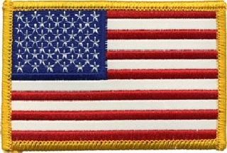 U.S. Flag - Reflective White - 3-3/8 X 2-1/4-