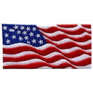 9/11 Style Wavy Flag Emblem
