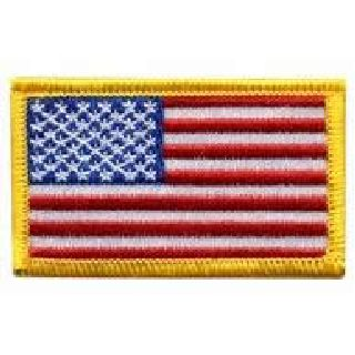 "U.S. Flag - 2-1/2 X 1-1/2"" - Med Gold-Hero's Pride"
