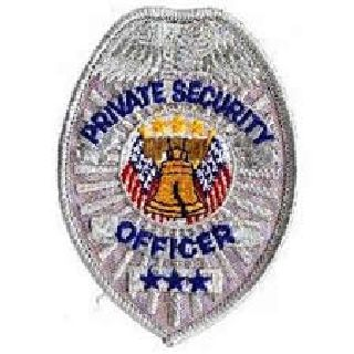 Badge-Silver- Private Security Officer-Hero's Pride