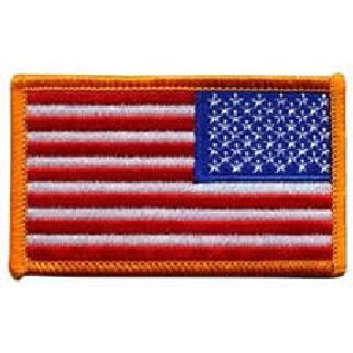 U.S. Flag - Dark Gold Border (Reverse) - 3-3/8 X 2""