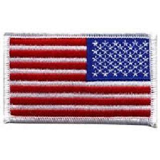 "U.S. Flag - White Border (Reverse) - 3-3/8 X 2""-Hero's Pride"