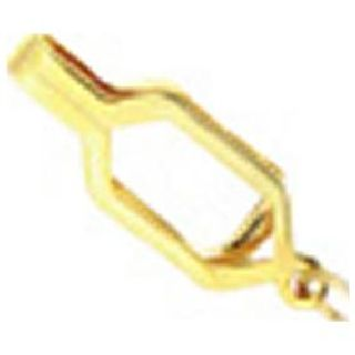 Whistle Chain With Epaulette Clasp - Gold