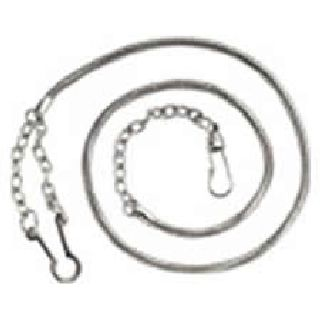 Whistle Chain With Button Style Hook - Nickel-