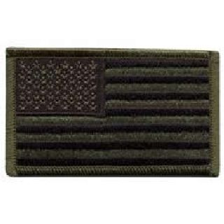 U.S. Flag - Subdued - No Hook - 3-3/8 X 2""