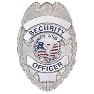 Security Ofcr - Oval w/Integrity- Traditional - Nickel-