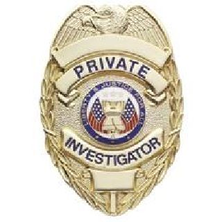 Private Investigator - Oval - Traditional - Gold-Hero's Pride