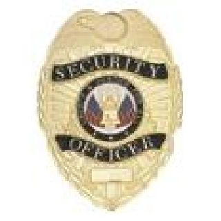 Security Officer - Oval - Traditional - Gold-