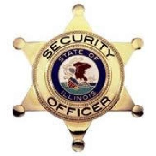 Security Officer w/ Il Seal - Traditional - Gold-