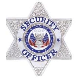 Security Officer - 6 Pt Star - Traditional - Nickel
