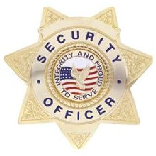 Security Ofcr - Star w/Integrity - Traditional - Gold-Hero's Pride