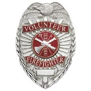 Volunteer Firefighter - Oval w/Scramble - Gold-Hero's Pride