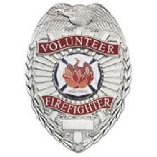 Volunteer Firefighter - Oval w/Phoenix - Gold-