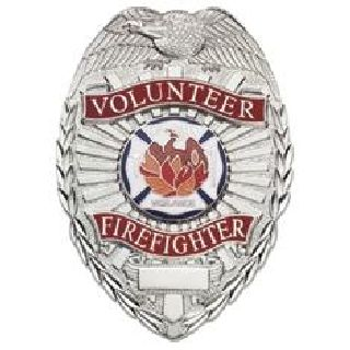 Volunteer Firefighter - Oval w/Phoenix - Nickel-Hero's Pride