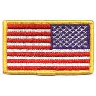 U.S. Flag - Full Color (Reverse) - 3-3/8 X 2""