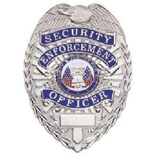 Security Enf. Ofcr. - Oval - Light - Gold
