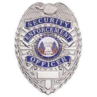 Security Enf. Ofcr. - Oval - Light - Nickel