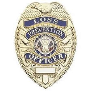 Loss Prevention Officer - Oval - Light - Nickel-