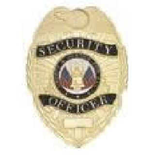 Security Officer - Oval - Light - Gold-Hero's Pride