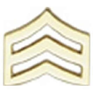 "Pairs - Sgt Chevron - Small - 3/4"" - 2 Clutch - Gold-"