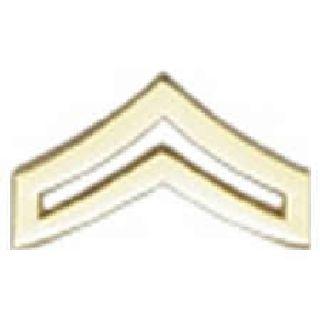 "Pairs - Cpl. Chevron - Regular 1"" - 2 Clutch - Gold-Hero's Pride"